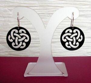 Hell Keltischer Knoten Ohrringe Acryl Schwarz Gothic Schmuck - Neu Auf Der Ganzen Welt Verteilt Werden
