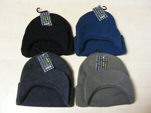 55e4d285df Details about MENS KNITTED BEANIE SKI HAT WITH PEAK - BLACK, BLUE, GREY OR  CAMOUFLAGE GREEN