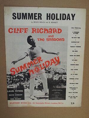song sheet SUMMER HOLIDAY Cliff Richard 1963
