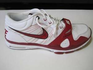 MEN'S NIKE TRAINER 1.2 MID + P MAROON/RED WHITE SHOE 408164 SIZE 18 NWB NEW #70