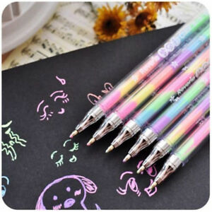 1Pc-Novelty-Gradient-6-Colors-In-1-Gel-Ink-Pen-Colorful-Rainbow-Student-Pen-Gift