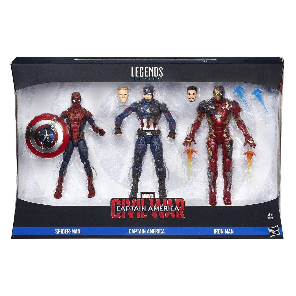 3 figura figura figura brgerkrieg k  n bin  rica  spider - man  marvel legends series hasbro b8215 710aa4