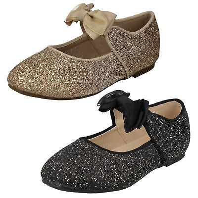 GIRLS SPOT ON SLIP ON BALLET PUMPS SEQUIN PARTY EVENING FLAT DOLLY SHOES H2R186