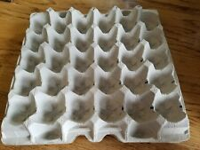 19 Chicken Egg Cartons Paper Trays Flats Hatching Crafts Poultry 30 Eggs Used