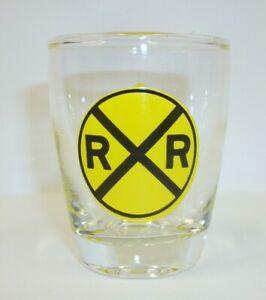 Vintage-RR-Crossing-Merging-Traffic-Novelty-Shot-Glass
