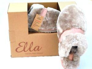 fa459a4ddce21 LADIES ELLA MULE SLIPPERS FAUX FUR LUXURY MEMORY FOAM WARM SLIDERS ...