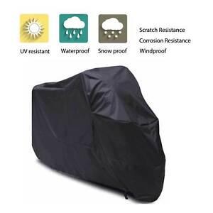 Motos-cubre-lluvia-sol-Protector-impermeable-negro-XXXL-al-aire-libre