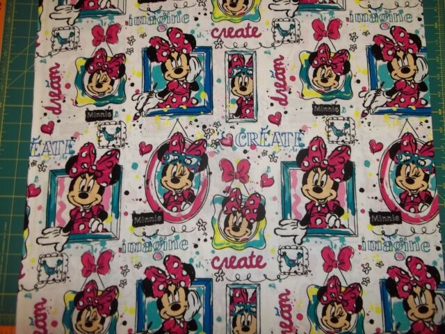 MICKEY /& MINNIE  MOUSE NEW TOSS DESIGN IN COLOR 100/% COTTON 1 YARD PIECE