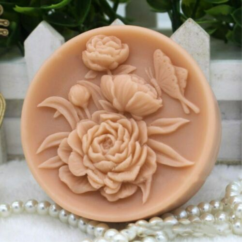 Moldes de jabón Flor De Silicona Silicio hecho a mano hágalo usted mismo Artesanía Barra de jabón haciendo Redondo