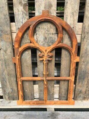Stallfenster Gussfenster Scheunenfenster rostig antik ländlich H.92cm B.62cm