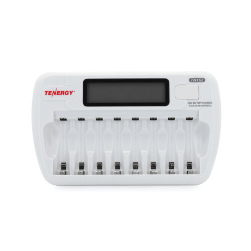 Tenergy TN162 8-Bay NiMH Smart Charger+8AA /& 8AAA Centura Rechargeable Batteries