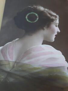 Details Zu Historische Postkarte Frau Madchen Frisur 20er Jahre