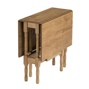 Drop leaf table heatproof folding dining kitchen gateleg oak rectangular seats 6 ebay - Folding kitchen tables small spaces style ...