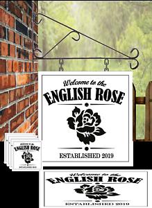 Personalised Custom Large Hanging Pub sign mats and coaster set bar mancave