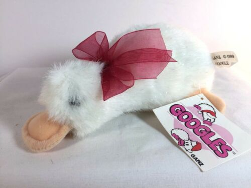 "Vintage GOOGLES Duck Platypus White Sparkles Christmas Red Bow Mini 7/"" Ganz 1999"