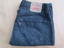"Men's levi`s 501 Negro Jeans W36"" L34"" Red Tab Pierna Recta Excelente Estado"