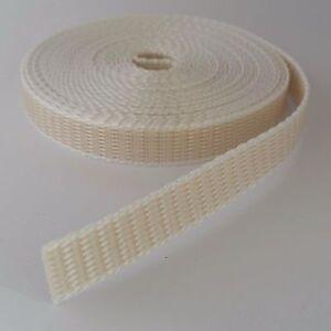 Cargar de ruedas Cinturón Cinturón Banda ancho de banda 14mm 6m blanco para gurtwickler bipolares persiana