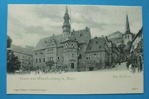 Sachsen-Anhalt AK Gruss aus Blankenburg a Harz 1900 Rathaus Straße Gebäude Ort