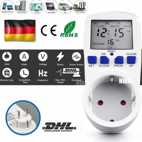 Messgerät Wattmeter Amperemeter Steckdose Stromzähler Energie Monitor EU Plug