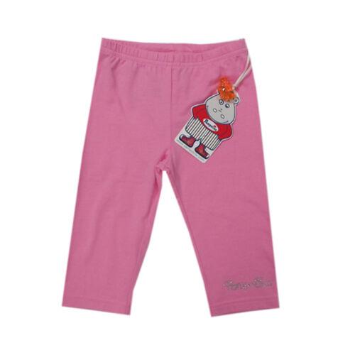 Pampolina Pantalon Longtemps Pantalon Leggings Capri Coton Rose Fille Taille 98