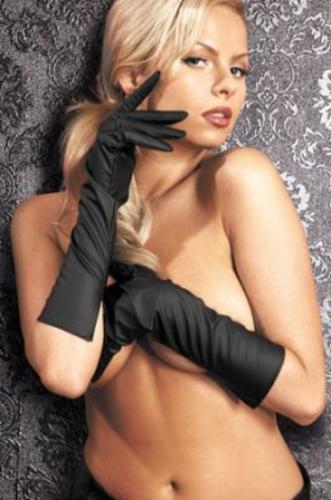 Sexy Vinyl Rubber Black Vixen Gloves Mittens Long&Short