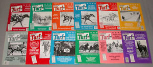 1983-Lot-of-12-Horse-Racing-034-Turf-Magazine-034-Issues