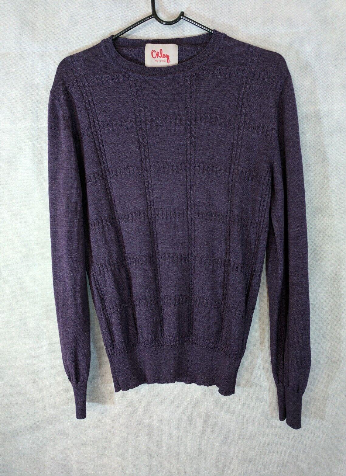 Orley Merino Wool /Silk Blend TextuROT Italian Sweater S