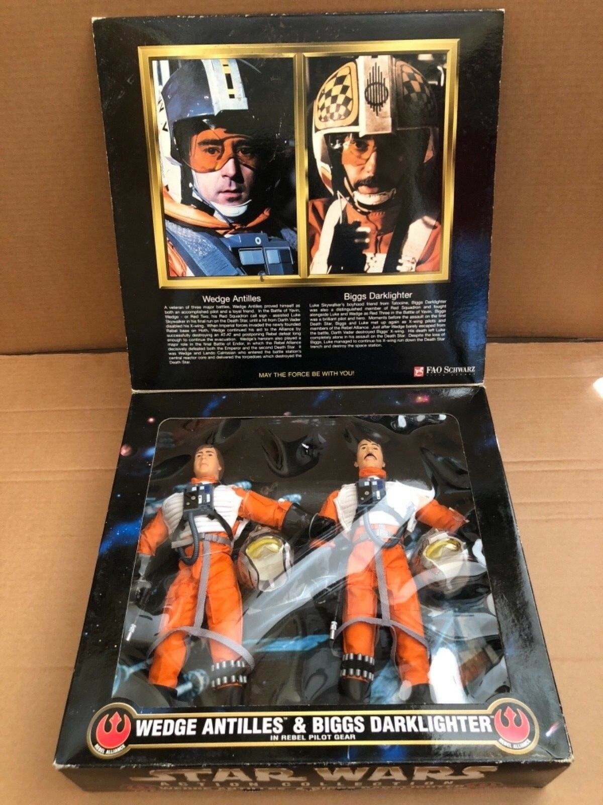 "Star Wars Collector Series Wedge Antilles & Briggs Darklighter 12"" figure"