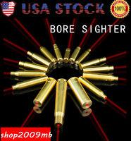 .45/9mm/12ga/7.62x39/.223rem/30-30win Red Laser Bore Sight Brass Boresighter