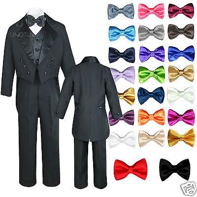 Free Orange Tie 6PC 5-14 New Boy Toddler Kid Formal Wedding Tuxedo Suit Vest