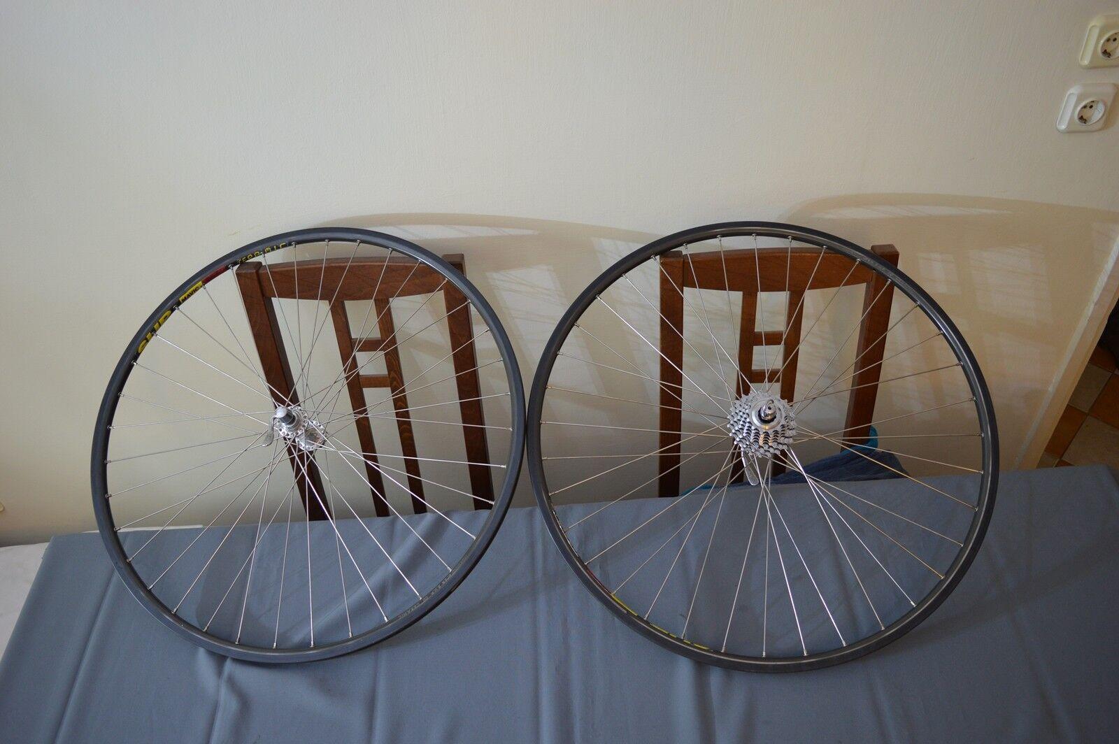 Mavic Open Sup Ceramic rims 36h Campagnolo Record 8 speed hubs wheels wheelset