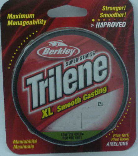 Berkley XLFS10-22 10 Lb NewImproved Trilene XL Mono Line Green 300Yd Spool 15874