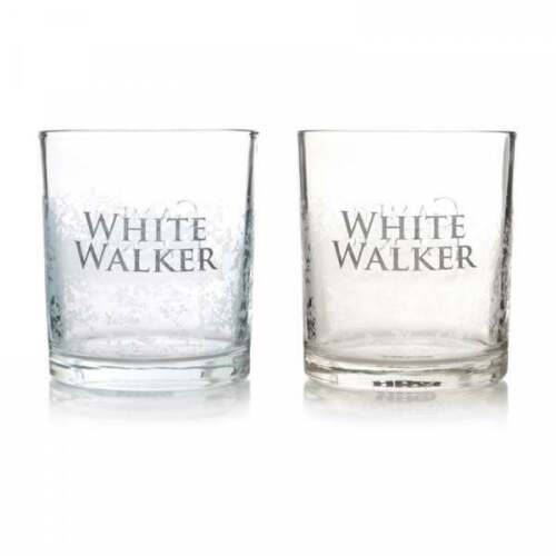 OFFICIAL GAME OF THRONES WHITE WALKERS SET OF 2 DRINKING GLASSES TUMBLERS NEW