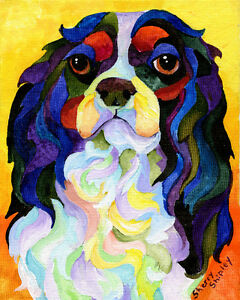 King-Charles-Spaniel-8X10-DOG-Print-from-Artist-Sherry-Shipley