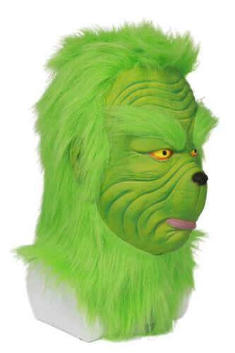 Christmas The Grinch Mask Movie Cosplay Helmet Halloween Costume Props Unisex