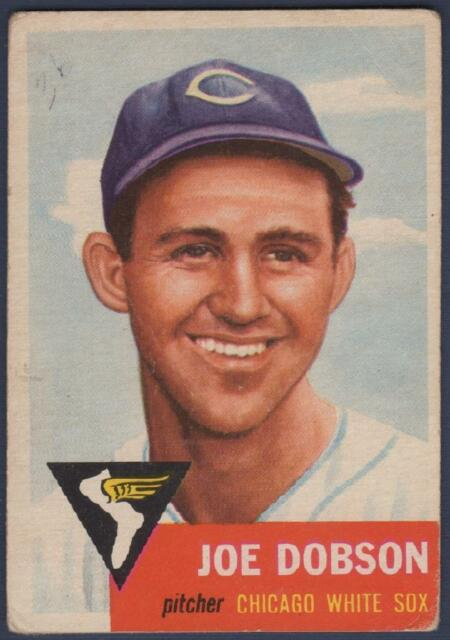1953 TOPPS  #5    JOE DOBSON   CHICAGO WHITE SOX   VG-EX to VG-EX+