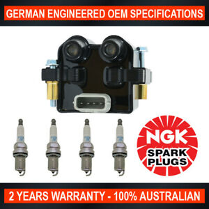 4x-Genuine-NGK-Platinum-Spark-Plugs-amp-1x-Ignition-Coil-for-Subaru-Forester-SG-SH