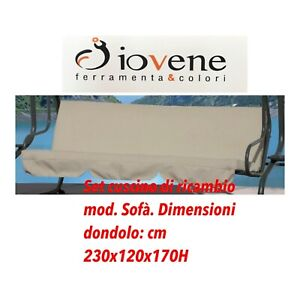 DEL RE Set Cuscini per Dondolo a 3 posti Sofa G