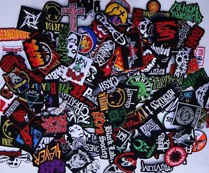 Random-Lot-of-25-Rock-Band-Patches-Iron-on-Music-Punk-Roll-Heavy-Metal-Sew