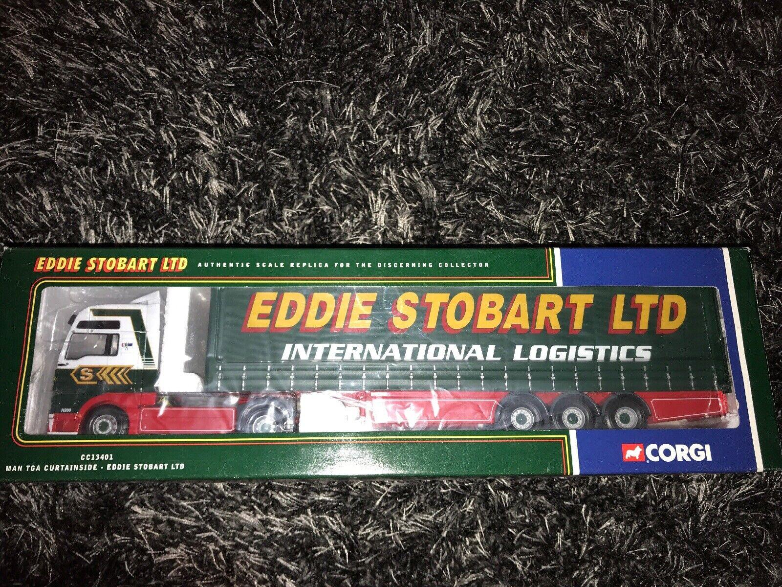 Corgi CC13401 MAN TGA Curtainsider - Eddie Stobart