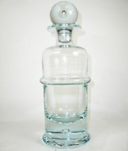 Holmegaard-Regiment-Ice-Blue-Decanter-w-Stopper-Suspended-Bubble-Danish-Glass