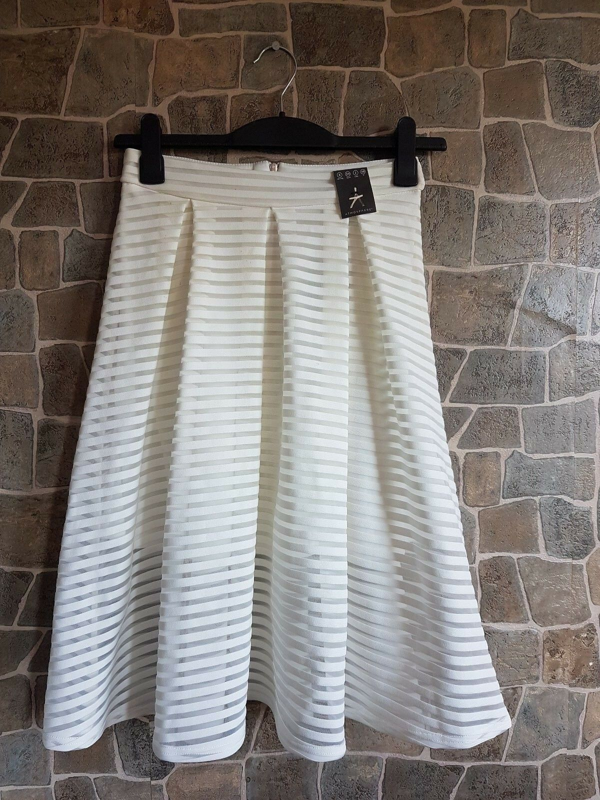 Primark Mesh full circle white skirt size high waisted