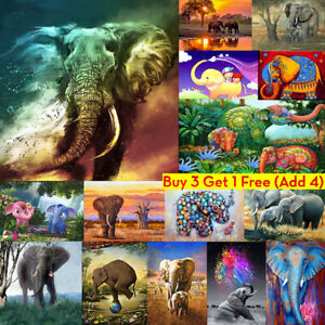 Elephant-Full-Drill-DIY-5D-Diamond-Embroidery-Painting-Craft-Stitch-Home-Hot