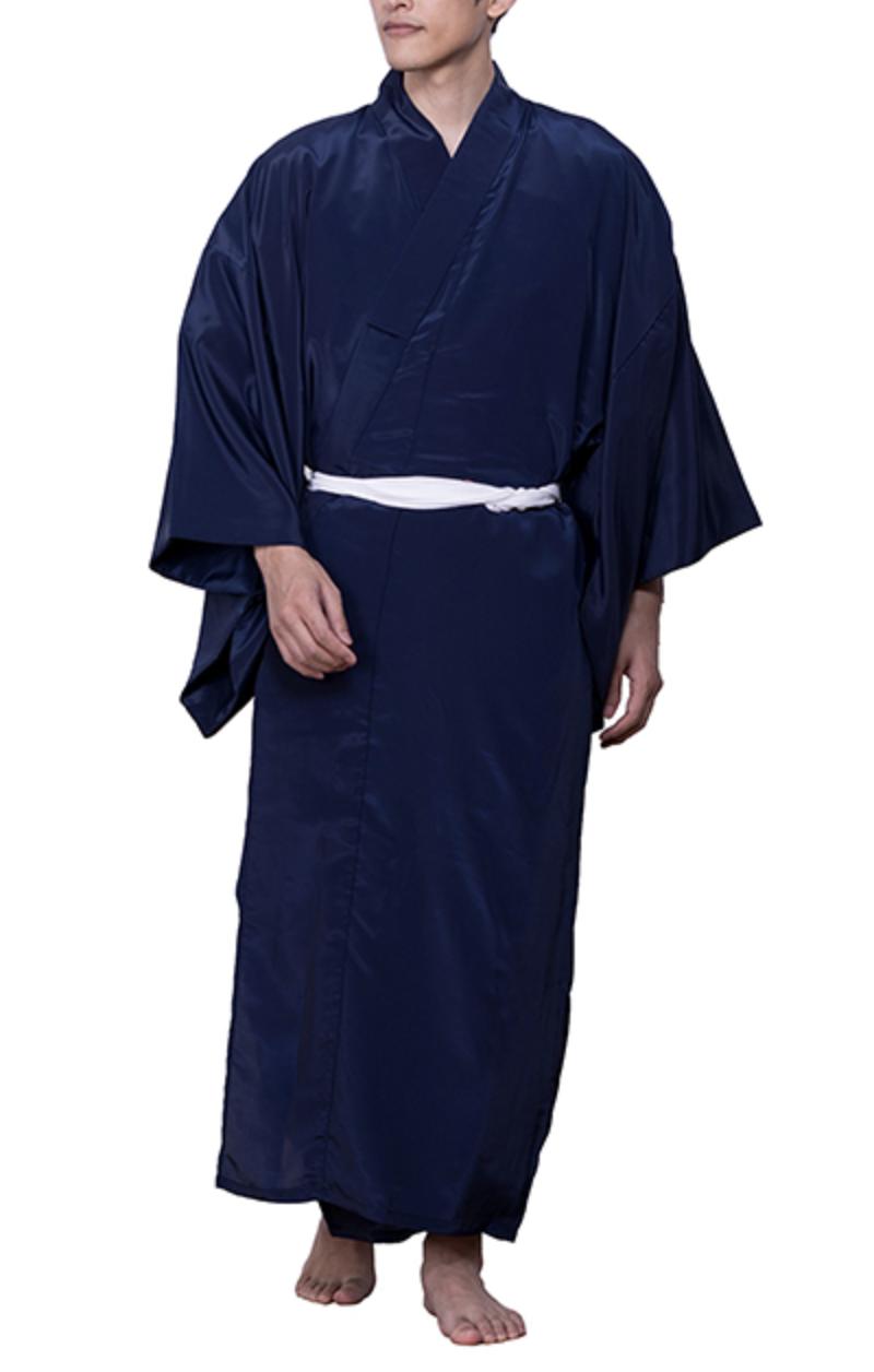 Japanese Men's Traditional Kimono inner under wear Long Full Juban Navy JAPAN