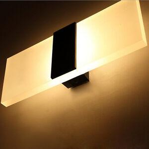 acryl led wand dekor wandlampen schlafzimmer lampe leuchte bett lichtwand lampe ebay. Black Bedroom Furniture Sets. Home Design Ideas