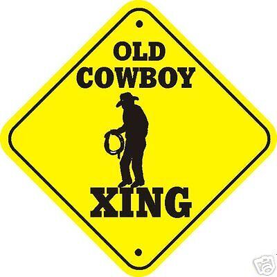 Old Cowboy Xing Sign