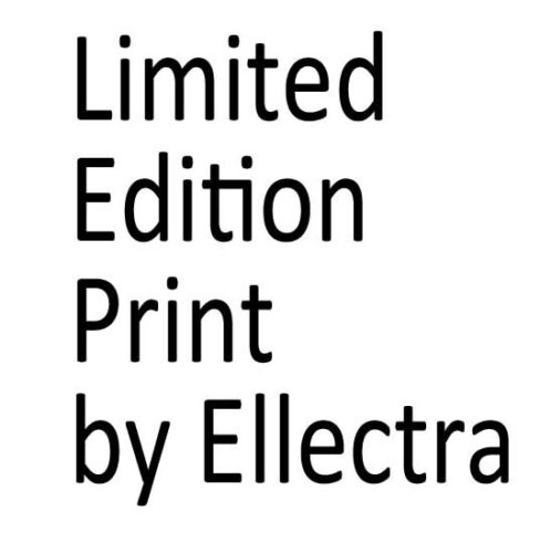 LIMITED EDITION PRINT BY ELLECTRA// EROTIC// OIL GOLD LESBIAN INTEREST