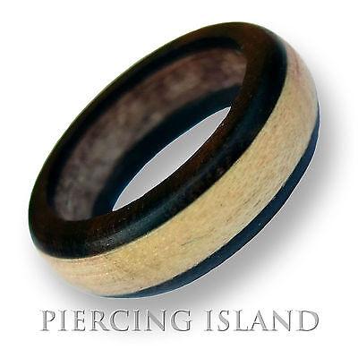 Ring Wood natural rings wood wedding band AR43 size4-15