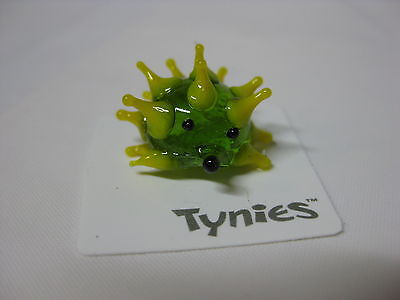 TIC Porcupine GREEN animal TYNIES Tiny Glass Figure Collectibles NEW 004