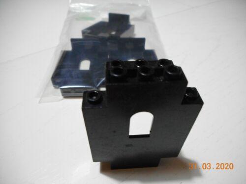 4x Lego 4444 Burg//Wand schwarz